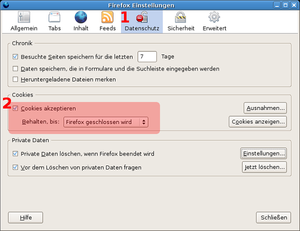 Firefox Private Daten Löschen