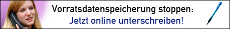 Vorratsdatenspeicherung stoppen: Jetzt online unterschreiben!