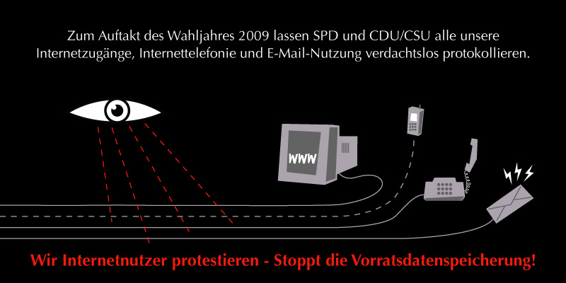 Stoppt die Vorratsdatenspeicherung!